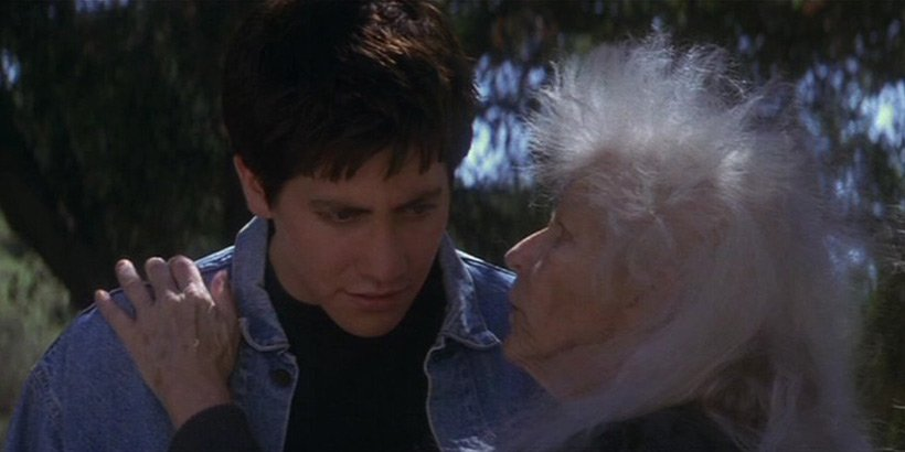 "donnie darko"" enigmatic slyly funny existential classic  donnie darko grandma death"