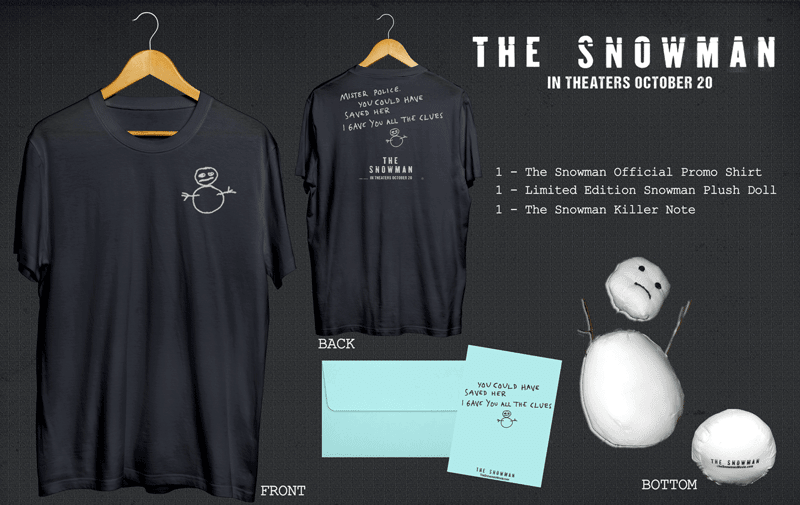 Contest The Snowman Swag Bag Exclusive Giveaway From - 18 creepy horror snowmen will take winter next level